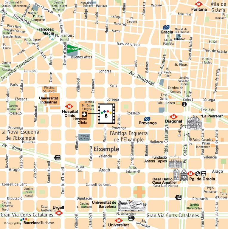 Hospital Clinic Barcelona Mapa.Hospital Clinic